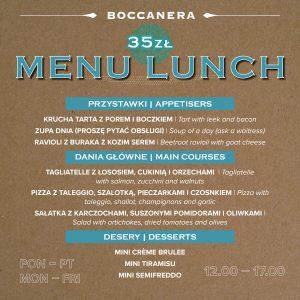 Menu lunchowe Kraków Boccanera